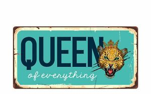 """2458HS Queen Of Everything 5/""""x10/"""" Novelty Sign"""