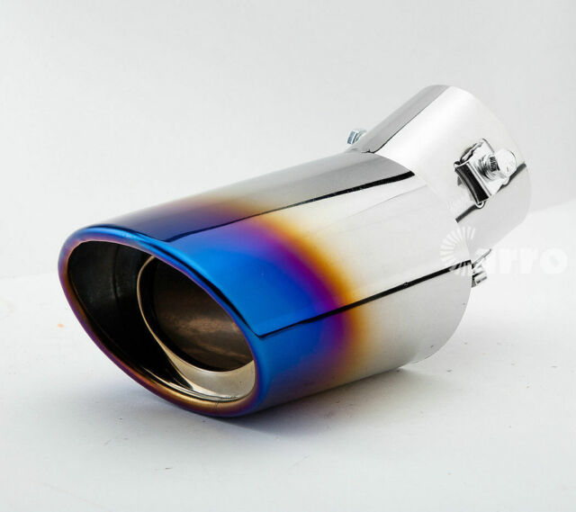 "2.5/"" Inlet N1 Style Stainless Steel Muffler Car Rear Exhaust Pipe w// 4/"" Burn Tip"