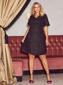 e7fd7b708148 New Dorothy Perkins GOLD GLITTER PARTY Dress be PLUS Size 18-28 Look ...