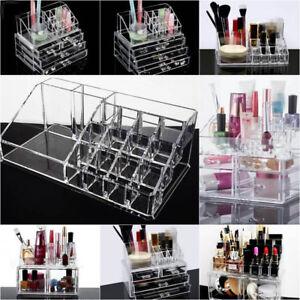 Acrylic Makeup Box Cosmetic Organizer Drawer Holder Clear Storage