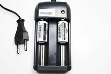 CHARGEUR RS08 + 2 BATTERIE PILE 16340 CR123 2200mAh RECHARGEABLE 3.7V ION ACCU