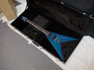 dean dave mustaine vmnt limited trans blue electric guitar new w case v 819998187507 ebay. Black Bedroom Furniture Sets. Home Design Ideas