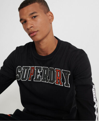 Superdry Mens Crafted Casuals Applique T-Shirt