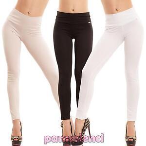 0dfb058eb46e Caricamento dell'immagine in corso Pantaloni-donna-sigaretta -elastici-skinny-slim-eleganti-vita-