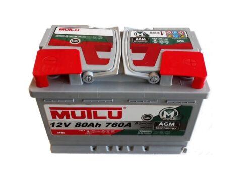 AGM VRLA Start-Stopp 12V 80Ah 760A Autobatterie Starterbatterie ersetzt 70 72Ah