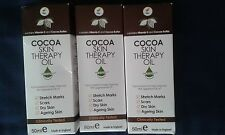 3 X Cocoa Skin Therapy Oil Vitamin E Ageing Dry Skin Scars Stretch Marks Blemish