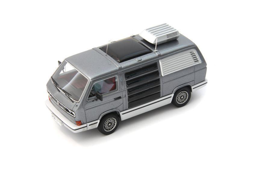 Volkswagen vw t3 traveller - 1979 grau metallic 1 43 modell avenue43