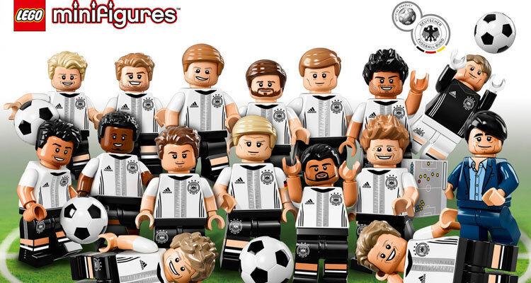 LEGO 71014 DFB German football Team minifigure complete 16 figures w  tracking