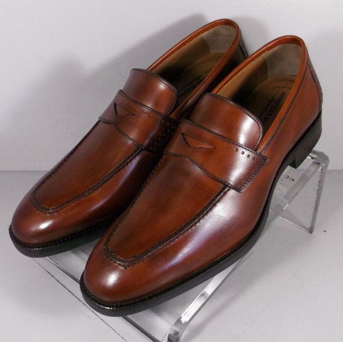 152674 MS50 Chaussures Hommes Taille 11 W Dark Tan Cuir Enfiler Johnston & Murphy