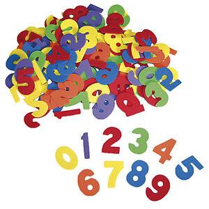 """Folia Moosgummi-Stanzteile /""""Zahlen/"""" 150 bunte Moosgummi Zahlen von 0-9"""