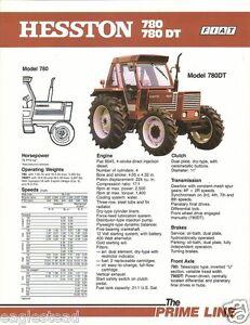 farm tractor brochure hesston fiat 780 780 dt 1980 f1310 rh ebay com Allis Chalmers Tractors Fiat Tractor Italy