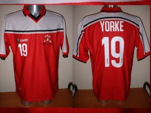 Trinidad-amp-Tobago-Power-Yorke-Adult-L-Soccer-Football-Jersey-Man-Utd-2000-Top