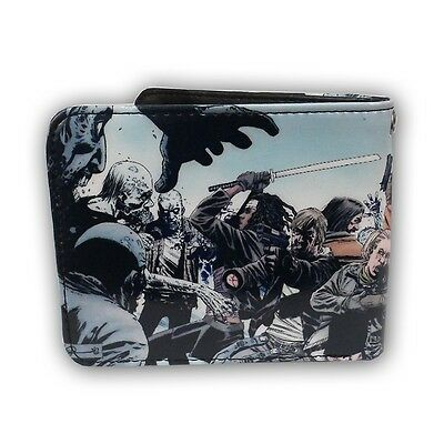 Walking Dead Battle Scene Michonne Zombies Licensed Adult Bi Fold Wallet