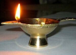 20 Brass Diyas Oil Lamp Religious Incense Burner Chirag Puja Lighting Home Decor