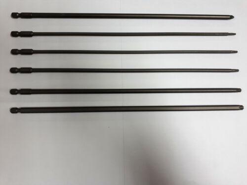 Bit extra lang 150mm oder 300mm Torx T10-T10 PZ PH Kreuzschlitz