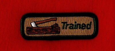 AXE LOG Wood Badge KNOT Patch Cub Boy Scout Beads BSA