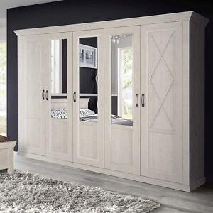 Kleiderschrank 5 Trg Schrank Spiegel Schlafzimmer Landhaus Pinie