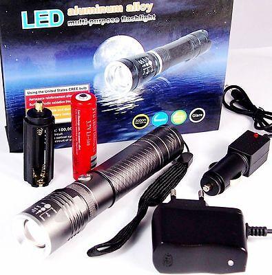 500 Lumen CREE LED Taschenlampe UV Licht ZOOM Lithium-Ionen Akku LED-Made in USA