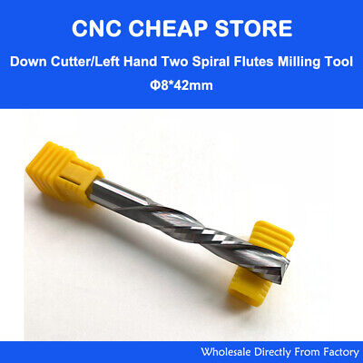 AAA 8mmx42mm DOWN CUT Spiral Tool Single Flute End Mill Solid Carbide Cutter CNC