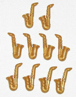 LEGO LOT OF 25 NEW PEARL GOLD SAXOPHONE MUSICAL INSTRUMENTS MINIFIGURE PIECES