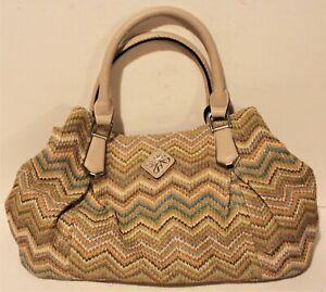 SIMPLY-VERA-VERA-WANG-Multi-Color-Woven-Beige-Hand-Bag-Purse