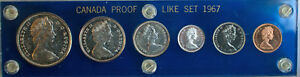 1967-Canada-Proof-Like-Set-Animals-80-Silver-Capital-Coin-Holder-Unc-RCM-2