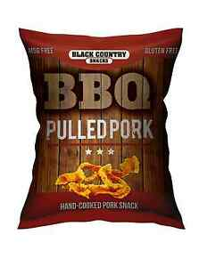 BBQ-Pulled-Pork-NEW-Snack-50g-GLUTEN-amp-MSG-FREE-10-x-50g-Packs-Pork-Scratchings