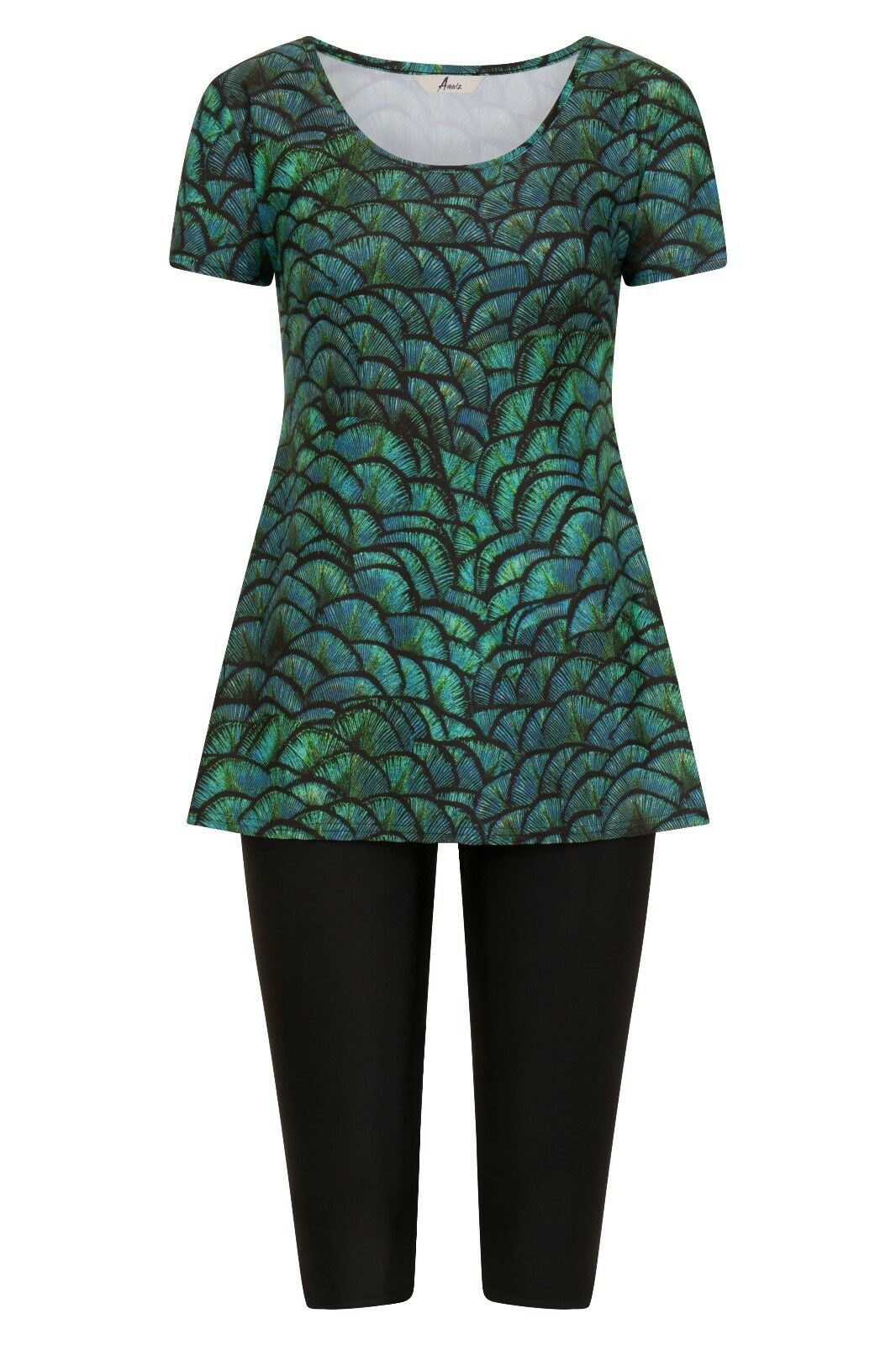 Amaiz Dragon Scales Green Swimdress - Modest Swimwear - Burkini