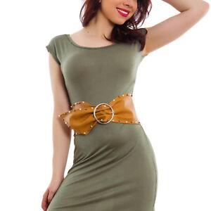 miglior grossista foto ufficiali molti stili Cintura donna cinta fusciacca cinturone maxi fibbia perle ecopelle ...
