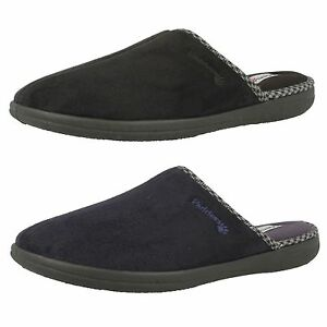Mens Padders Luke 471 Black Or Navy Fabric Mule Slip On Slippers G fit