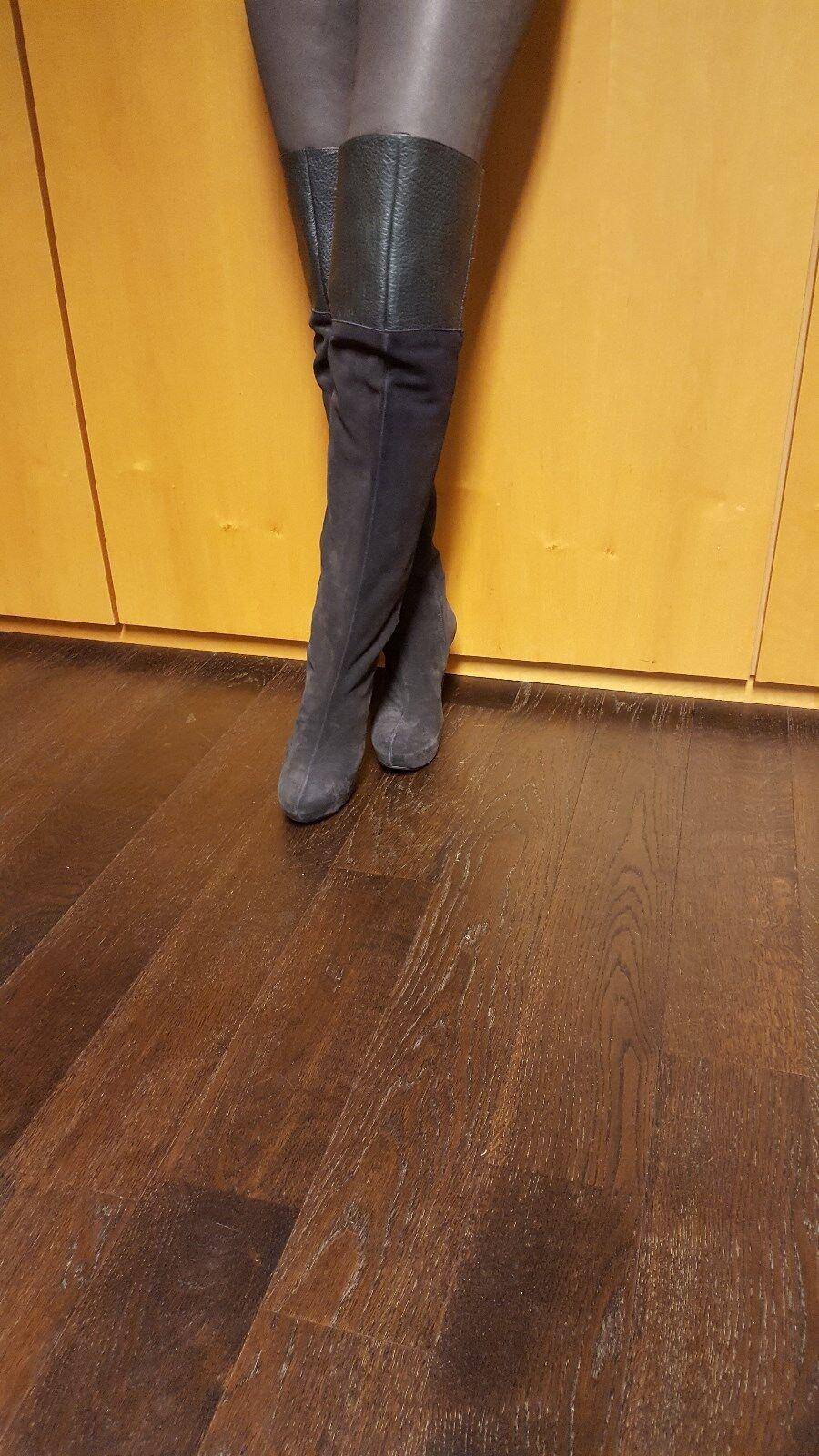 Overknee Stiefel Gianrico Mori    Gr. 41 Neu Echt Leder 745cf5