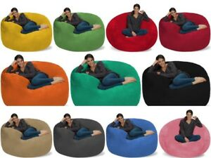 Fabulous Details About Love Sac Adult Kids Bean Bag Chair Fuf Chill Sack Giant 5 Foam Media Lounger Onthecornerstone Fun Painted Chair Ideas Images Onthecornerstoneorg