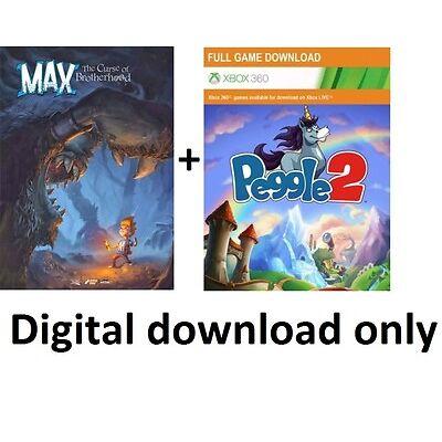 Max: The Curse of Brotherhood + Peggle 2 XBOX 360 CD Key Live Arcade Download