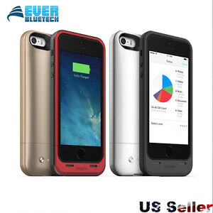 new product 175aa 507cb Details about Mophie Space Pack For iPhone SE/5S/5 Battery Case with  16/32/64GB memory 1700mAh