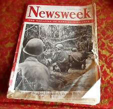 Newsweek - November 22, 1943 -- World War II coverage VTG CAMEL CIGARETTE AD