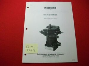 WOODARD-PSG-GOVERNOR-INSTALLATION-OPERATION-PARTS-amp-MAINTENANCE-MANUAL-37013C