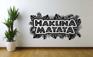 Hakuna Matata Lion King Disney Quote Wall Art Decal Sticker FI47