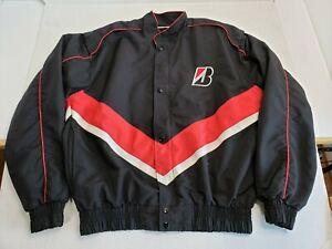 Vintage-Bridgestone-Tires-Indy-Car-F1-Race-Jacket-Black-Red-Unisex-Adult-Large