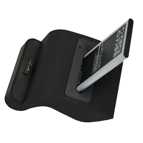 Desktop Dual Battery Charger Charging Dock Cradle For Samsung Galaxy SV S5 i9600