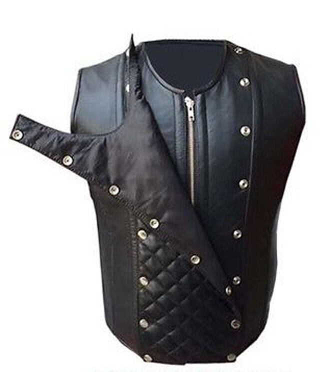 Herren REAL LAMB LEATHER Steel Boned Victorian Corset / STEAMPUNK VEST LARP Goth