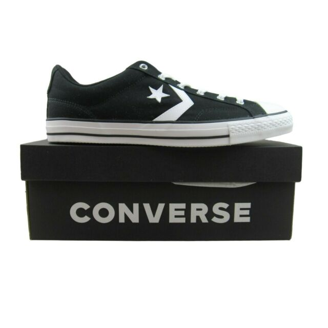 Converse Star Player OX Low Black White Sneakers 161595C NEW Mens Multi Size