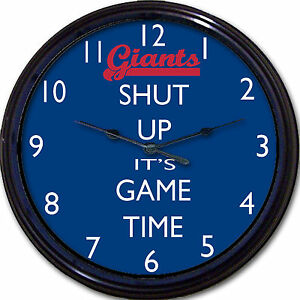 2489fcaf2f9 New York Giants Football Shut Up It s Game Time Wall Clock NFL Man ...