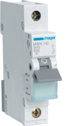 Hager MBN140 Leitungsschutzschalter 1polig 6kA B-40A 1M