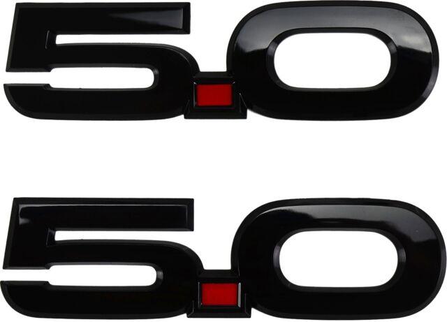 15 Thru 17 Mustang Oem Ford Black 50 Fender Nameplate Emblem Rh