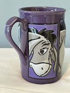 Eeyore Tall Purple Coffee Mug 3D Disney Store Winnie the Pooh 16 Ounces