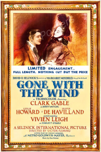 Gone With The Wind Movie Poster Glossy Finish MCPoster PRM286