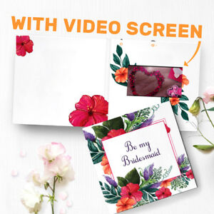 Will you be my bridesmaid video invitation card wedding invitation image is loading will you be my bridesmaid video invitation card stopboris Image collections