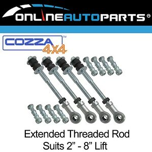 """Front + Rear Extended Sway Bar Link Rod Pins for Nissan Patrol GQ Y60 2""""-8"""" Lift"""