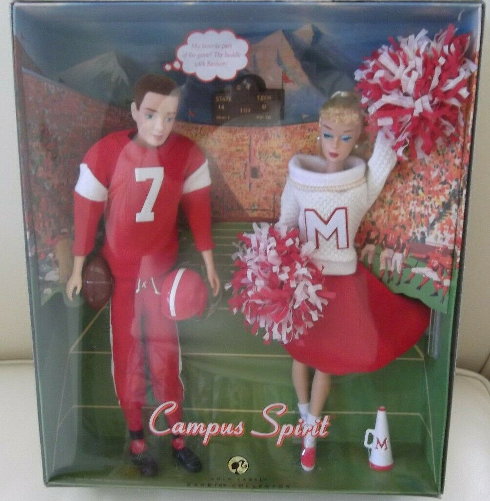 Campus Spirit Cheerleader Barbie Y Ken Muñecas favoritas Fashions atleta de fútbol