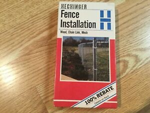 Hechinger Fence Installation Wood, Chain Link, Mesh Rare VHS Tape, DIY Hardware